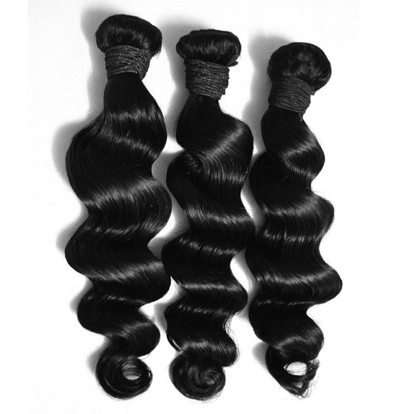Virgin Brazilian Hair (loose wave) 3 Bundles Pack - Whitney Marie Hair