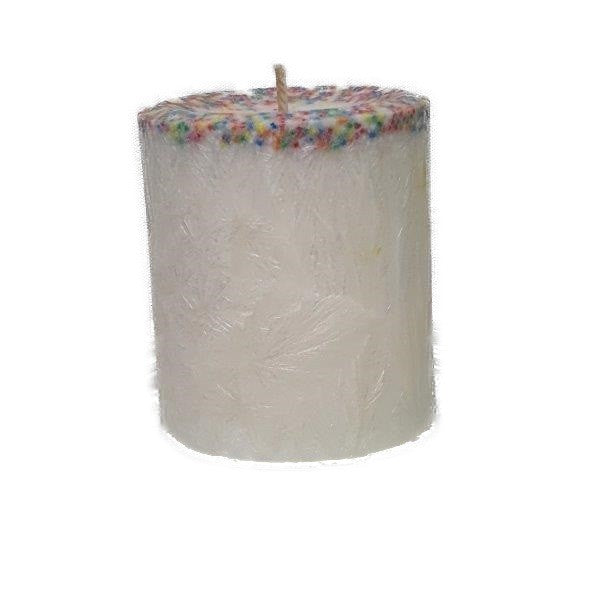 Birthday Cake - Small Pillar Candle