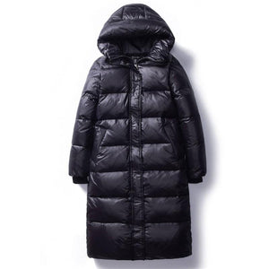Women's Slim Hooded Padded Long Parkas - Aesthetic Outfits