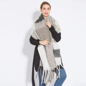NEW Fashion Cashmere Women Plaid Scarf Winter Warm Shawl And Wrap Bandana Pashmina - Aesthetic Outfits