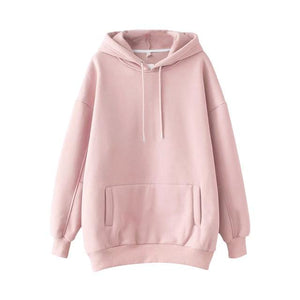 Solid Casual Tracksuit Women Sports 2 Pieces Set Sweatshirts Pullover Hoodies - Aesthetic Outfits