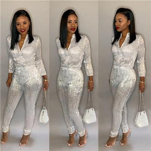 Gilding Women Jumpsuit Christmas Long Sleeve Fashion Casual Romper Club Party Overalls - Aesthetic Outfits