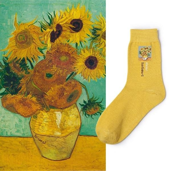 Aesthetic Mona Lisa Socks - Aesthetic Outfits