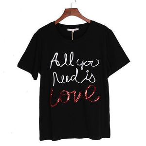 All You Need is Love T Shirt - Aesthetic Outfits