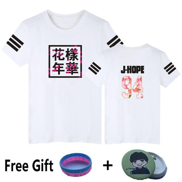 BTS Kpop Short Sleeve T-Shirt + FREE GIFT - Aesthetic Outfits