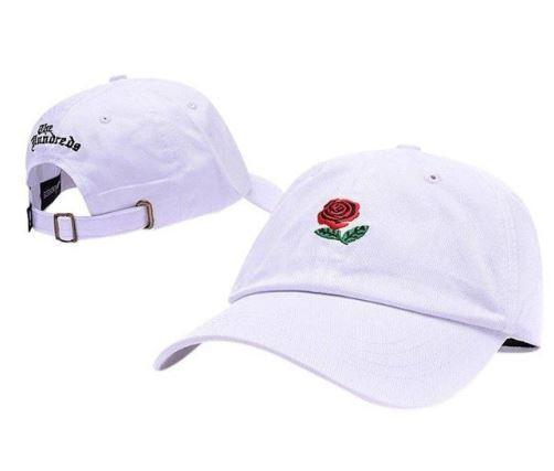 Cotton Embroidery Rose Hat - Aesthetic Outfits