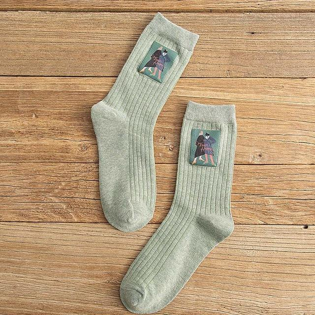 Cotton Long Aestehtic Socks - Aesthetic Outfits