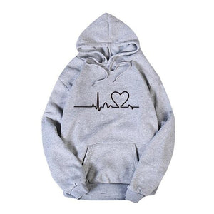 Couple Loose Pullover Hooded Sweatshirt - Aesthetic Outfits