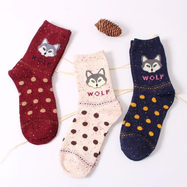 Cute Animals Socks - 3 Pairs/Lot - Aesthetic Outfits