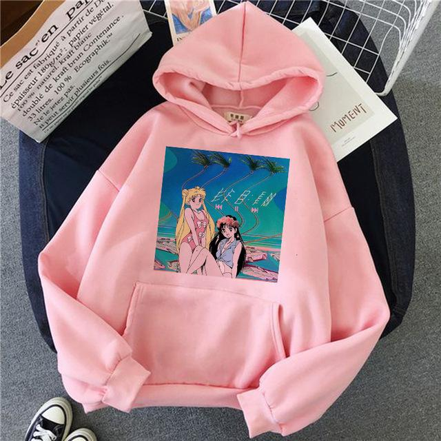 Cute Cat Cartoon Hoodie - Aesthetic Outfits