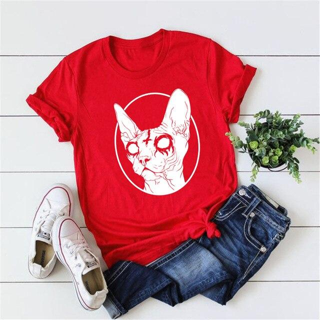 Death Metal Sphynx Cat T-Shirt - Aesthetic Outfits