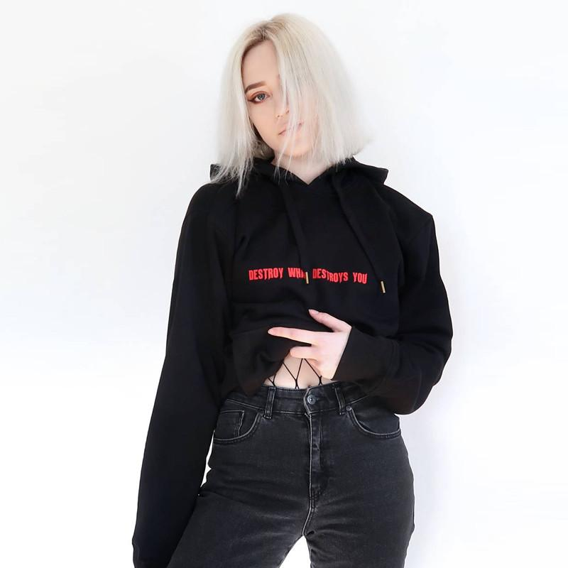 Destroy What Destroys You Hoodie - Aesthetic Outfits