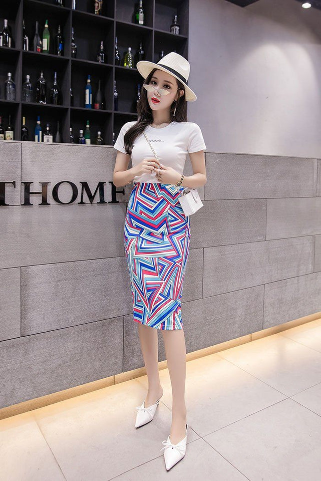 Elegant High Waist Pencil Skirt - Aesthetic Outfits