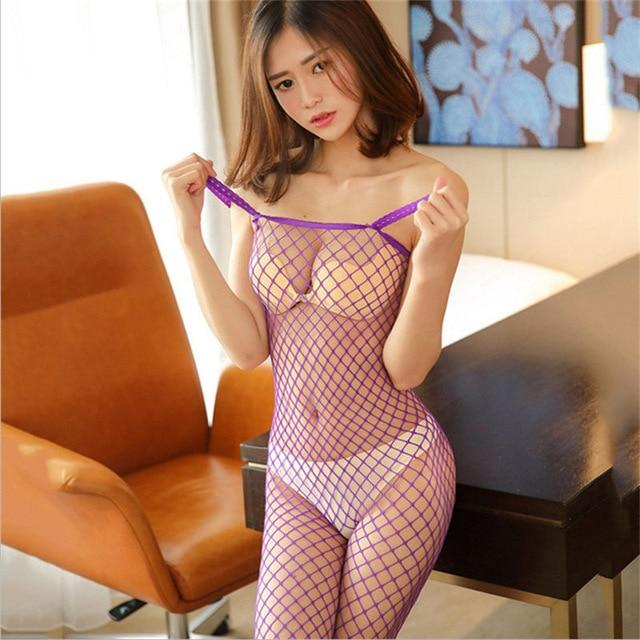 Erotic Lingerie For Women Hollow Mesh Baby Doll - Aesthetic Outfits