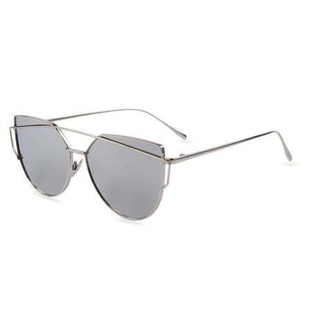 Flat Lens Cat Eye Sunglasses - Aesthetic Outfits