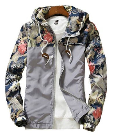 Floral Bomber Jacket - Aesthetic Outfits