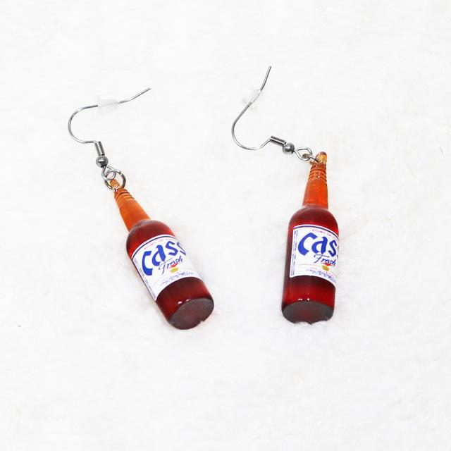 Funny Bottle Drop Earrings - Aesthetic Outfits