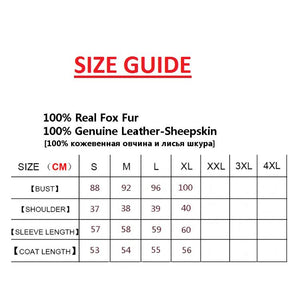 Genuine Sheepskin Leather Jacket Women - Real and Natural Fox Fur Coat - Aesthetic Outfits