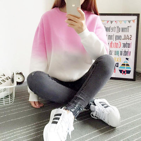 Gradient Pastel Sweatshirt - Aesthetic Outfits