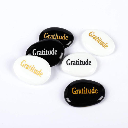 Gratitude Rock - For Motivation Reminder - Anti Depressant Healing Stones (Precious Gift) - Aesthetic Outfits