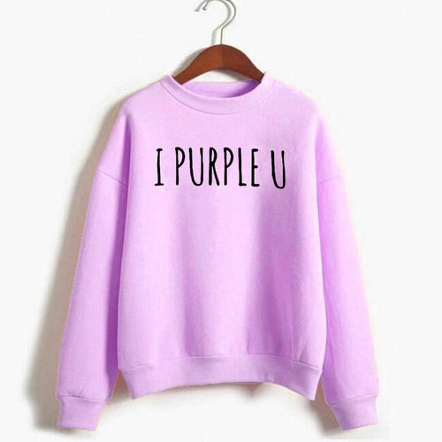 I Purple U Sweatshirt - Aesthetic Outfits