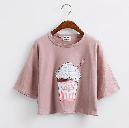 Ice cream Crop Tops - Aesthetic Outfits