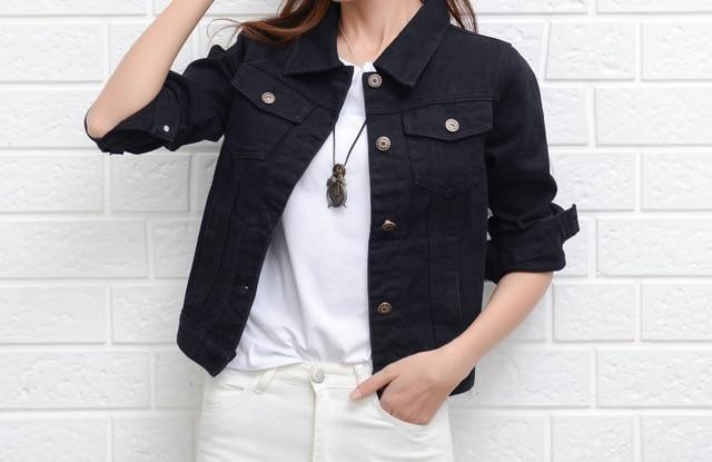 Trendy Denim Jeans Jacket for Girls In Seven Colors - Aesthetic Outfits