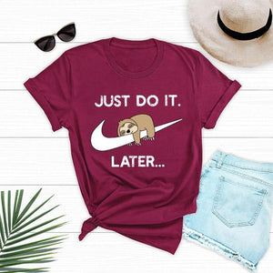 Funny Cartoon T-Shirt - Just Do It Latter - Aesthetic Outfits