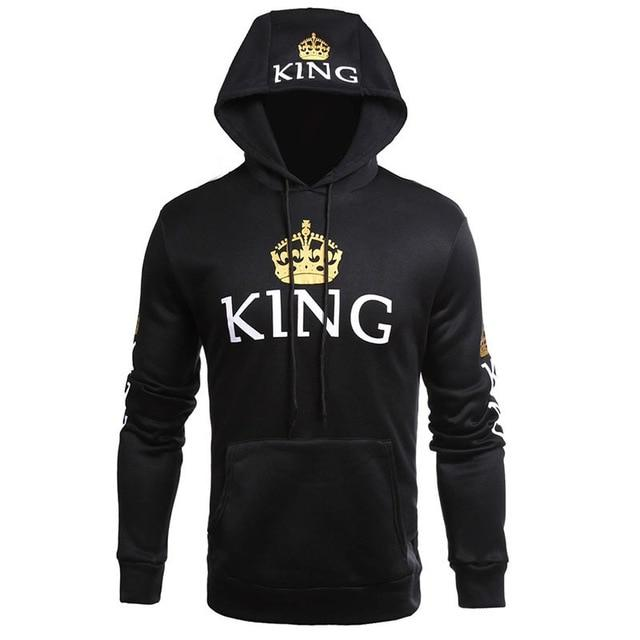 King & Queen Matching Couple Hoodie Set - His & Hers Hoodies - Aesthetic Outfits