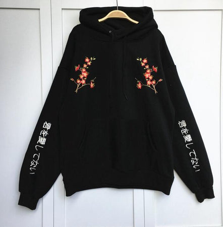 KPOP Fashion Flower Sweatshirt - Aesthetic Outfits