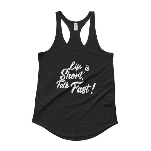 Life Is Short Talk Fast Ladies' Shirttail Tank - Aesthetic Outfits