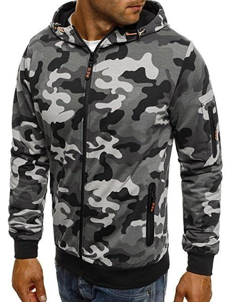 Men's Classic Camouflage Military Hoodie - Aesthetic Outfits
