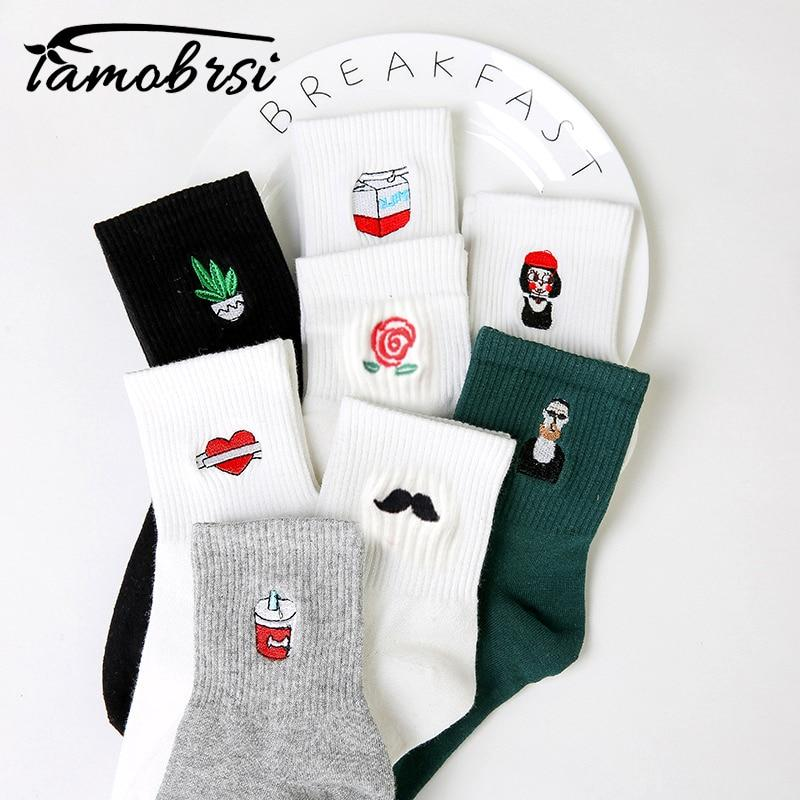 Milk Funny Cartoon Socks - Aesthetic Outfits
