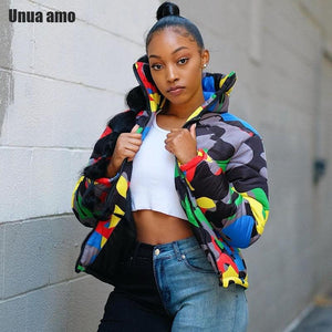 Multi Color Camo Print Jacket - Latest Hip-hop Jacket - Aesthetic Outfits