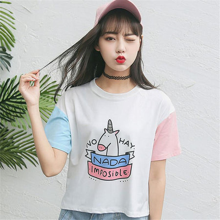 Nada Imposible Pastel T-shirt - Aesthetic Outfits