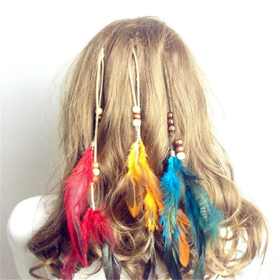 New Hair Ornaments Clip Feathers - Aesthetic Outfits