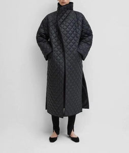 Loose Ankle Length Trendy Quilted Coat For Women - Aesthetic Outfits