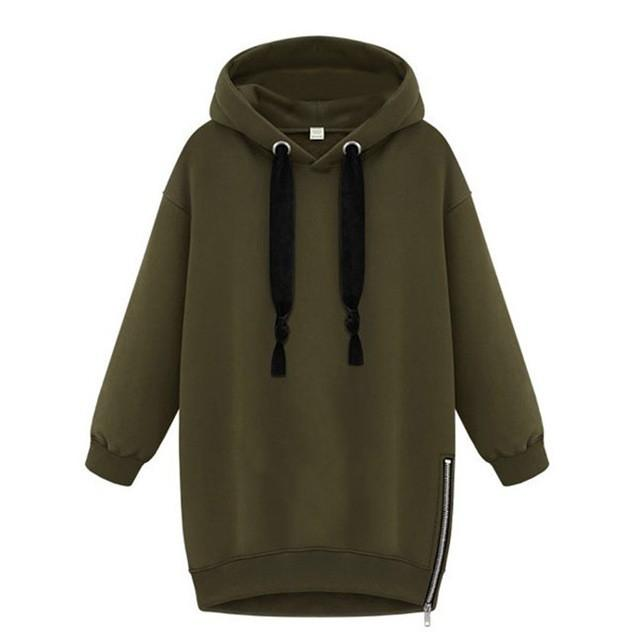 Oversized Spring Long Sleeve Hoodie - Aesthetic Outfits