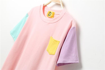 Patchwork T-Shirt - Aesthetic Outfits