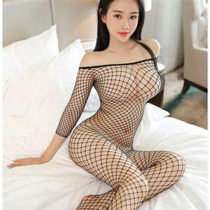 Plus Size Women Lingerie - Sexy Hot Erotic Fishnet Stocking Costumes - Aesthetic Outfits
