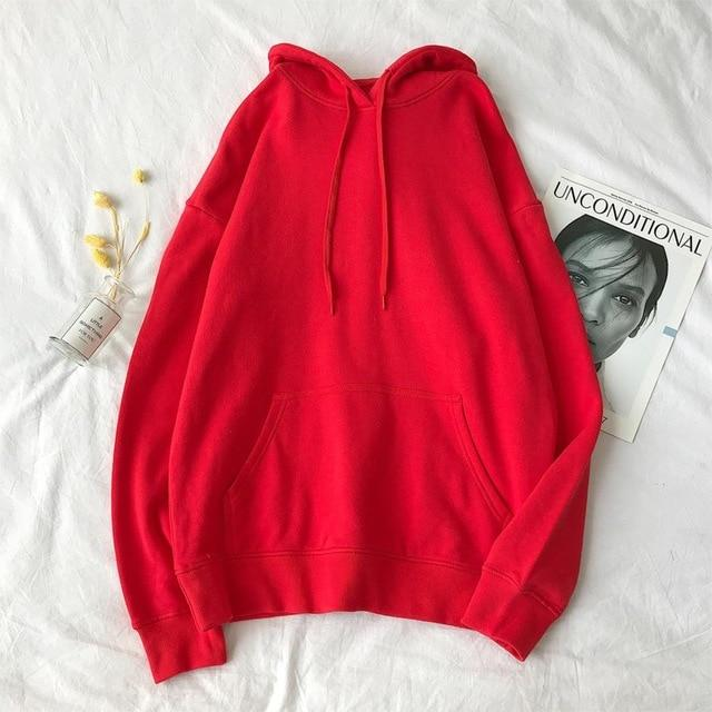 Woman's Sweatshirts in Solid 12 Colors - Aesthetic Outfits