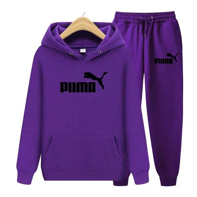 PUMA Women's Clothing Sets Tracksuit Sets Hoodies+Pants - Aesthetic Outfits