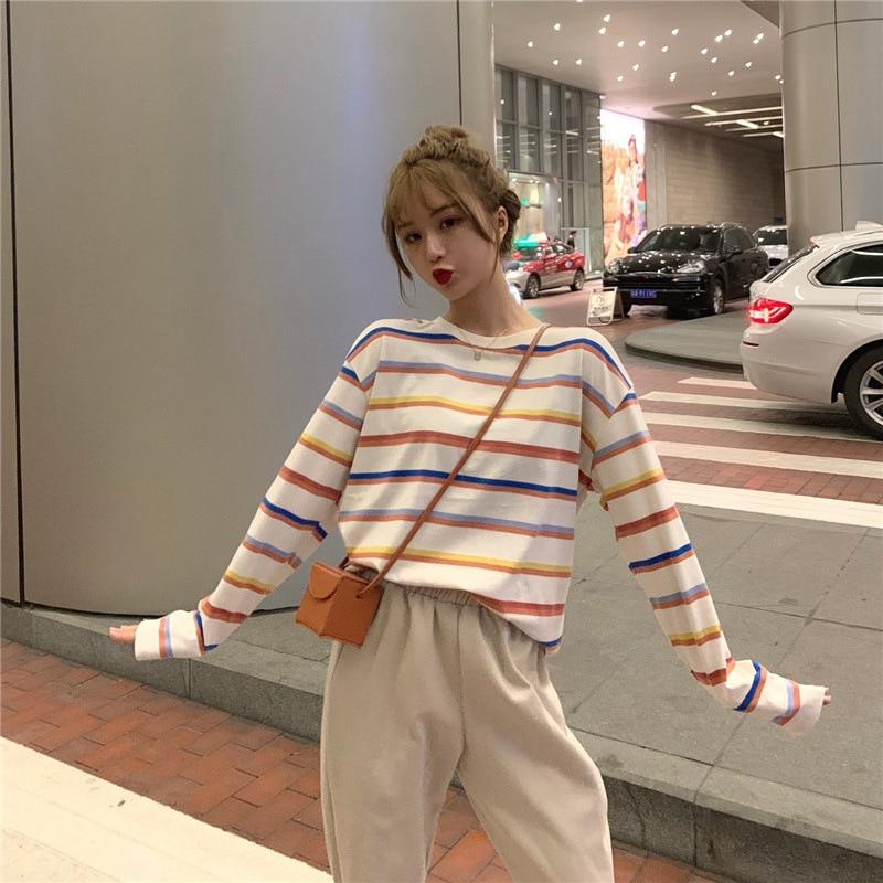 Rainbow Harajuku Sweatshirt - Aesthetic Outfits