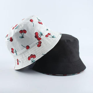 Black White Cow Print Bucket Hat - Aesthetic Outfits