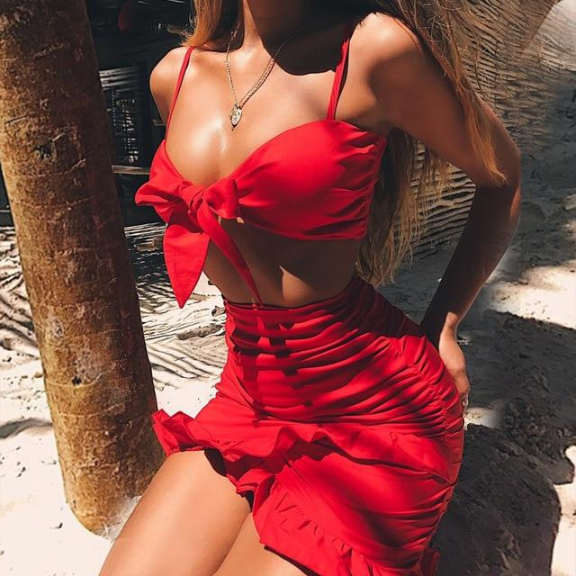 Sexy Off Shoulder Two Piece Set Summer Floral Print Crop Top and Belted Shorts Suit Women Sleeveless Spaghetti Strap 2 Piece Set - Aesthetic Outfits