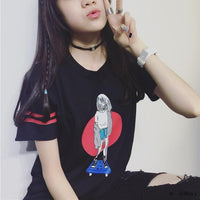 Skater Girl T-shirt - Aesthetic Outfits