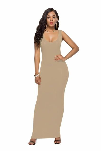 Sleeveless Slim Maxi Dress - Aesthetic Outfits