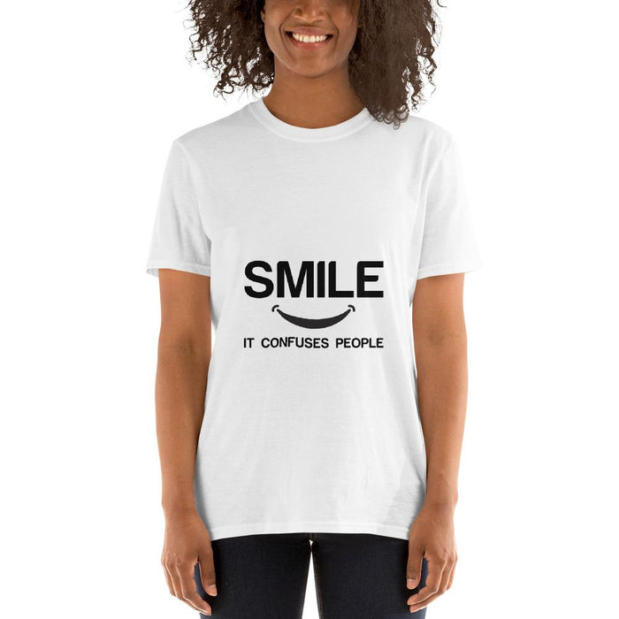 Smile Confuses People Short-Sleeve T-Shirt - Aesthetic Outfits