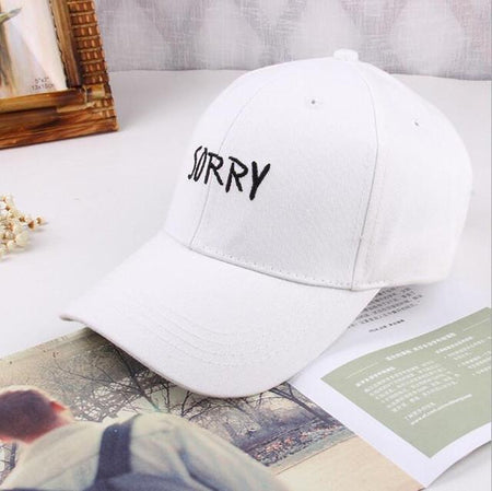 Sorry Embroidered Cap - Aesthetic Outfits