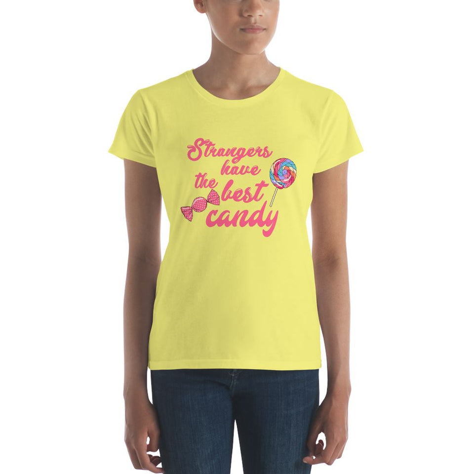 Strangers Have the Best Candy Short Sleeve T-shirt - Aesthetic Outfits